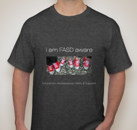 t-shirt FASD AWARE-melissa-gill