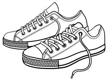 Coloring-Shoes-Tennis-Shoes-Side